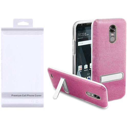 Insten Hard Hybrid Plastic TPU Cover Case w/stand For LG Stylo 3/Stylo 3 Plus, Pink