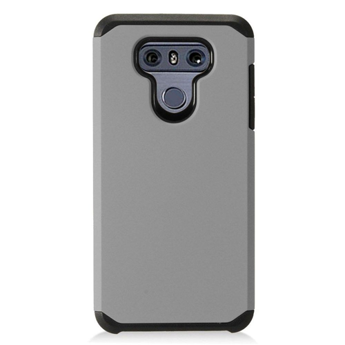 Insten Hard Dual Layer Plastic Case For LG G6, Gray