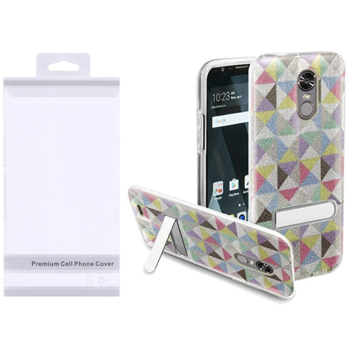 Insten Checker Hard Plastic TPU Cover Case w/stand For LG Stylo 3/Stylo 3 Plus, Colorful
