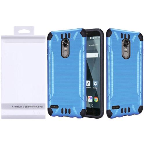 Insten Slim Armor Hard Dual Layer Brushed TPU Case For LG Stylo 3/Stylo 3 Plus, Blue/Black