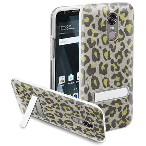 Insten Leopard Hard Plastic TPU Cover Case w/stand For LG Stylo 3/Stylo 3 Plus, Neon Green