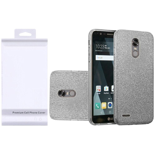 Insten Hard Glitter TPU Cover Case For LG Stylo 3/Stylo 3 Plus, Smoke