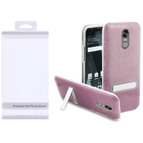 Insten Hard Plastic TPU Cover Case w/stand For LG Stylo 3/Stylo 3 Plus, Hot Pink