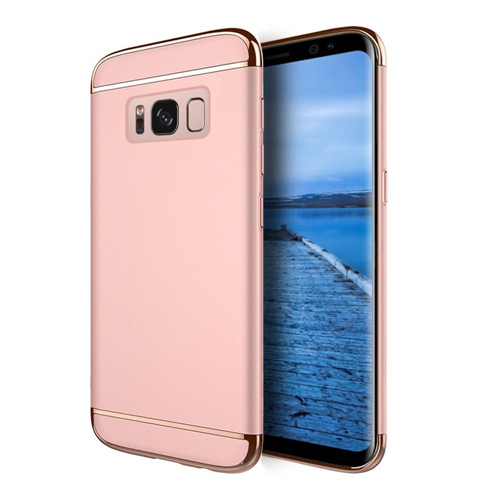 Insten Griptech Hard Dual Layer Rubber Coated Cover Case For Samsung Galaxy S8, Rose Gold