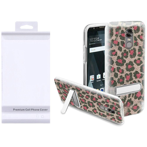 Insten Leopard Hard Plastic TPU Case w/stand For LG Stylo 3/Stylo 3 Plus, Pink