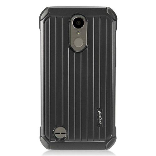 Insten Carry On Hard Dual Layer Plastic Case For LG Harmony/K10 (2017)/K20 Plus/K20 V, Black