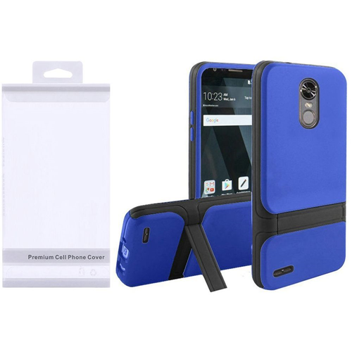 Insten Hard Dual Layer Plastic TPU Cover Case w/stand For LG Stylo 3/Stylo 3 Plus, Blue/Black