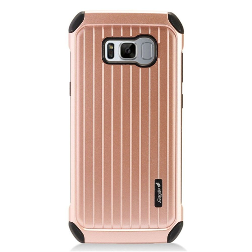 Insten Carry On Hard Dual Layer Plastic Cover Case For Samsung Galaxy S8 Plus, Rose Gold/Black