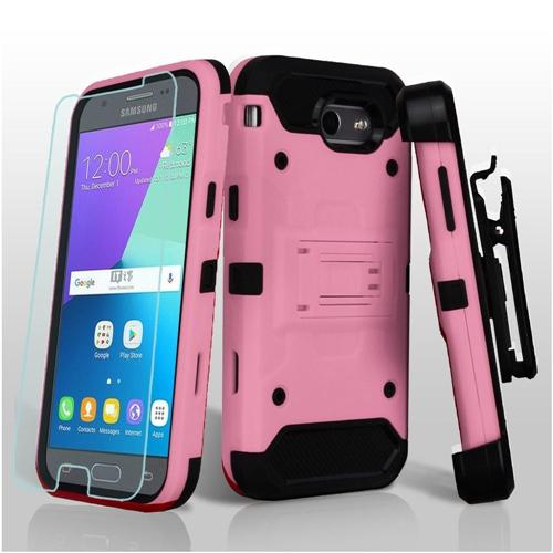 Insten Hard Case For Samsung Galaxy Amp Prime 2/Express Prime 2/J3 (2017)/J3 Emerge/J3 Prime, Pink
