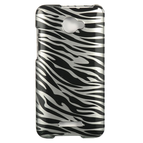 Insten Zebra Hard Plastic Cover Case For HTC Droid DNA, Silver/Black