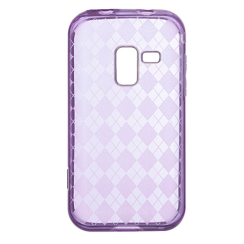 Insten TPU Rubber Clear Crystal Cover Case For Samsung Galaxy Attain 4G, Purple