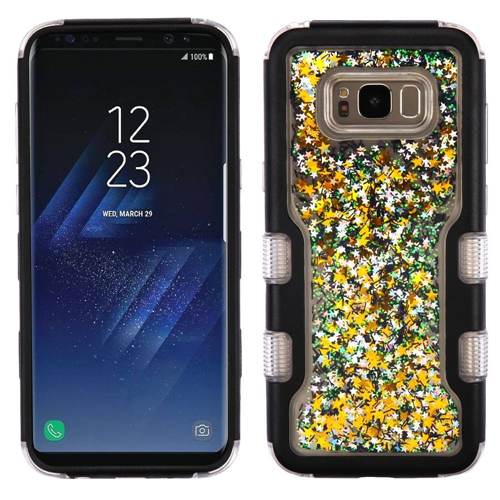Insten Quicksand Glitter Meteor Hard Hybrid TPU Case For Samsung Galaxy S8 Plus, Black/Colorful