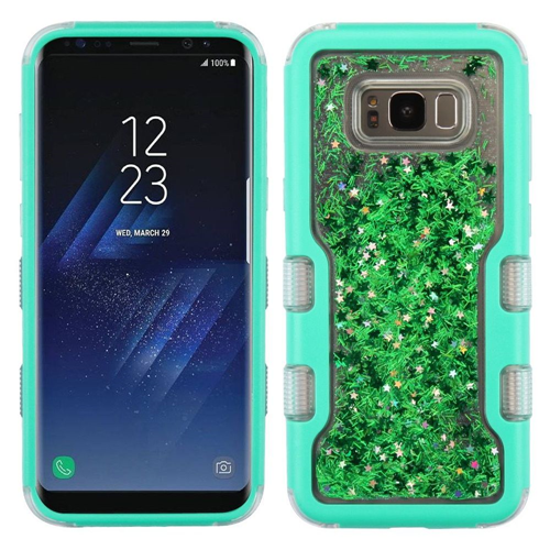 Insten Quicksand Glitter Meteor Shower Hard Hybrid TPU Case For Samsung Galaxy S8 Plus, Green