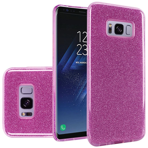 Insten Hard Glitter TPU Case For Samsung Galaxy S8, Purple