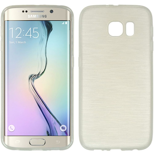 Insten TPU Rubber Cover Case For Samsung Galaxy S6 Edge, White
