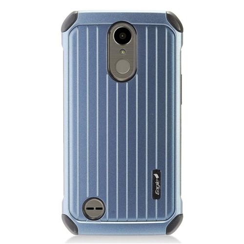 Insten Carry On Hard Hybrid Plastic Cover Case For LG Harmony/K10 (2017)/K20 Plus/K20 V, Blue/Black