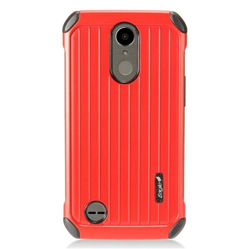 Insten Carry On Hard Dual Layer Cover Case For LG Harmony/K10 (2017)/K20 Plus/K20 V, Red/Black