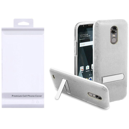 Insten Hard Plastic TPU Cover Case w/stand For LG Stylo 3/Stylo 3 Plus, Silver