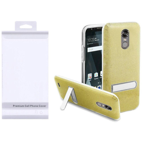 Insten Hard Plastic TPU Cover Case w/stand For LG Stylo 3/Stylo 3 Plus, Gold