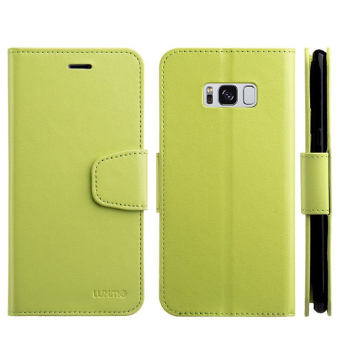 Insten Urban Classic Folio Leather Fabric Cover Case w/stand/card slot For Samsung Galaxy S8, Green