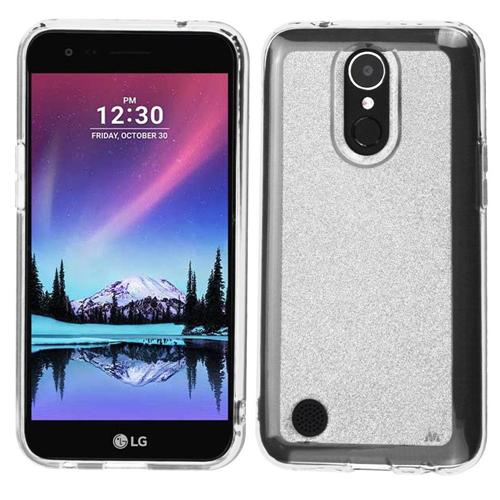 Insten Glitter Rubber Cover Case For LG Harmony/K10 (2017)/K20 Plus/K20 V, Clear