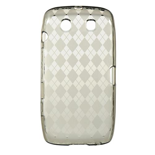Insten Rubber Transparent Crystal Case For BlackBerry Torch 9850/9860, Smoke