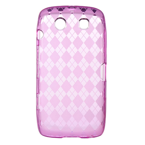 Insten Rubber Transparent Crystal Cover Case For BlackBerry Torch 9850/9860, Hot Pink