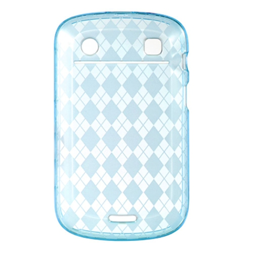 Insten TPU Clear Crystal Cover Case For BlackBerry Bold 9900, Blue