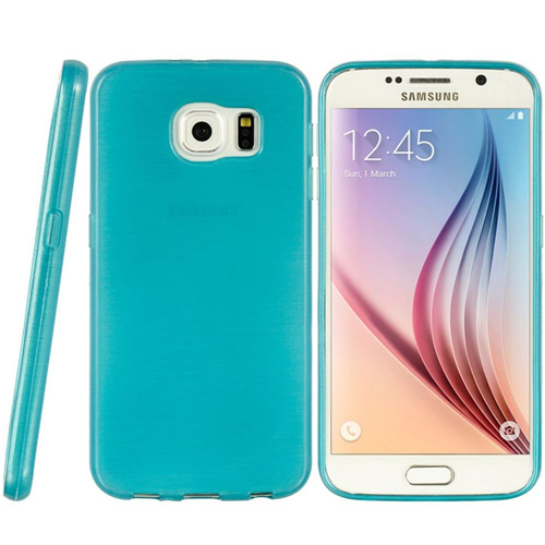Insten Rubber Crystal Cover Case For Samsung Galaxy S6, Teal