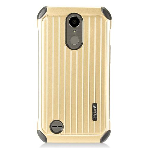 Insten Carry On Hard Hybrid Plastic Cover Case For LG Harmony/K10 (2017)/K20 Plus/K20 V, Gold/Black