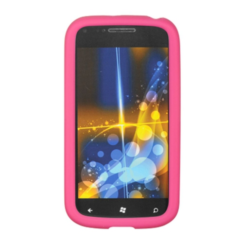 Insten Skin Rubber Case For Samsung Focus 2, Hot Pink