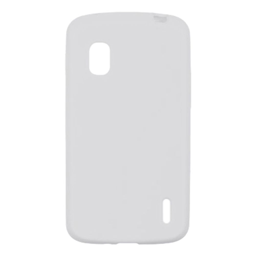 Insten Soft Rubber Cover Case For LG Google Nexus 4 E960, Clear