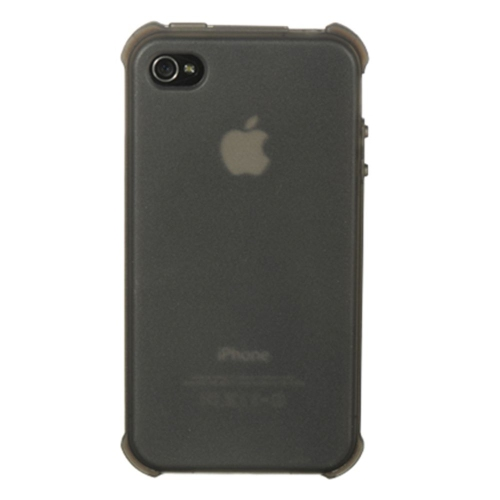 Insten Rubber Clear Crystal Case For Apple iPhone 4/4S, Smoke