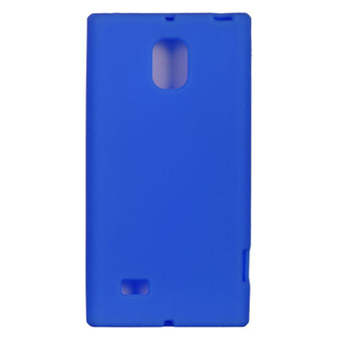 Insten Silicone Rubber Cover Case For LG Spectrum II 4G, Blue