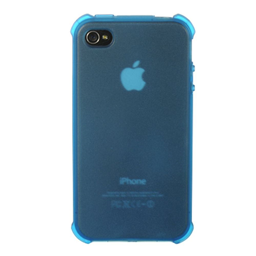 Insten TPU Transparent Crystal Cover Case For Apple iPhone 4, Blue