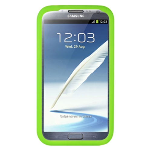 Insten Soft Rubber Case For Samsung Galaxy Note II, Green
