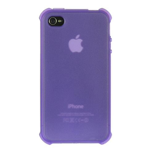 Insten TPU Clear Crystal Case For Apple iPhone 4, Purple