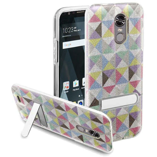 Insten Checker Hard Plastic TPU Case w/stand For LG Stylo 3/Stylo 3 Plus, Colorful