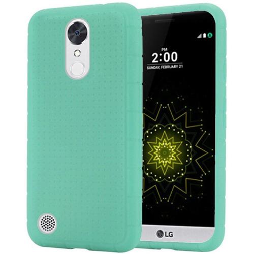Insten Rugged Skin Rubber Case For LG Grace 4G/Harmony/K20 Plus/K20 V, Teal