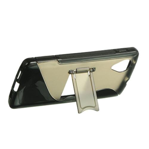 Insten Hard Transparent Plastic Cover Case w/stand For LG Google Nexus 5 D820, Smoke