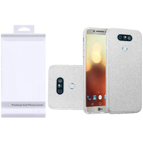 Insten Hard Glitter TPU Cover Case For LG G6, Silver
