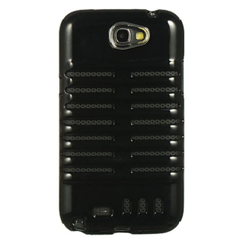Insten Skeleton TPU Cover Case For Samsung Galaxy Note II, Black