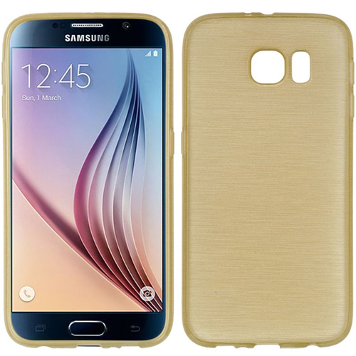 Insten TPU Rubber Crystal Cover Case For Samsung Galaxy S6, Gold