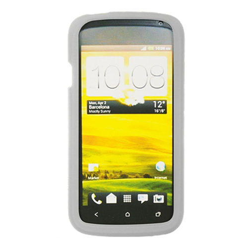 Insten Gel Rubber Cover Case For HTC One S, Clear