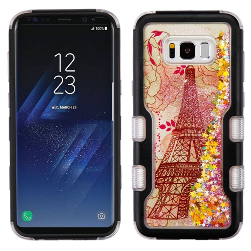 Insten Quicksand Glitter Hard Dual Layer Plastic TPU Cover Case For Samsung Galaxy S8, Multi-Color