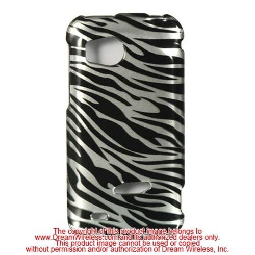 Insten Zebra Hard Plastic Case For HTC Rezound / Vigor, Silver/Black