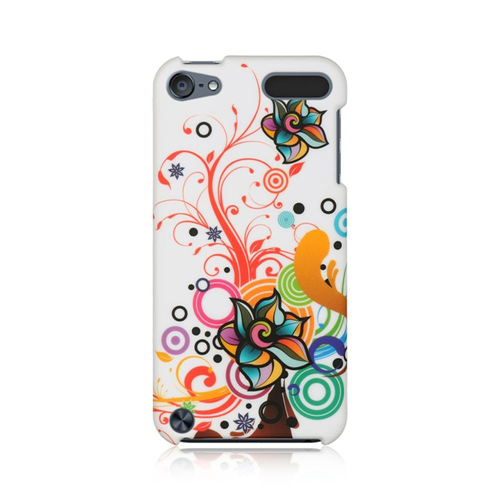 Insten Autumn Flower Hard Rubberized Cover Case For Apple iPod Touch 5th Gen/6th Gen, Multi-Color