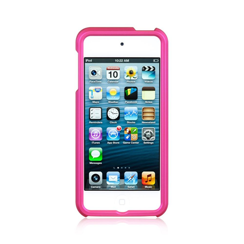 Insten Hard Rubber Coated Cover Case For Apple iPod Touch 5th Gen/6th Gen, Hot Pink
