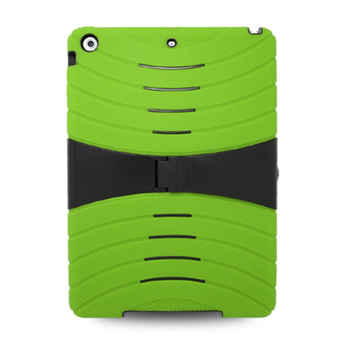 Insten Gel Hybrid Rubber Hard Cover Case w/stand For Apple iPad Air, Green/Black