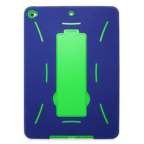 Insten Silicone Hybrid Rubber Hard Cover Case w/stand For Apple iPad Air 2, Blue/Green